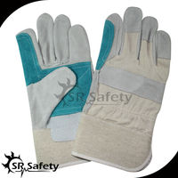 SRSAFETY natural cow split leather working gloves pakistan
