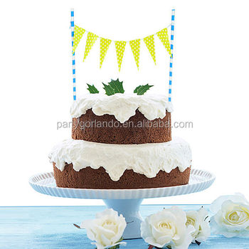 Wholesale Happy Birthday Letter Banner Cake Decoration Paper Flag