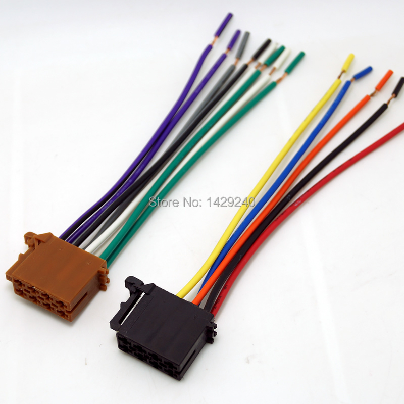 2019 Universal Male ISO Radio Wire Cable Wiring Harness Car Stereo on