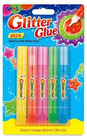 bright coloured art card craft making glitter glue