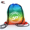 Custom Printing Logo Large Capacity Waterproof Nylon Gym Sport Backpack Drawstring Bag