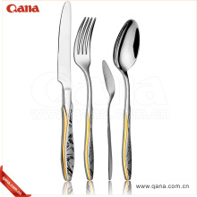 Wholesale High Grade gold plated silverware set