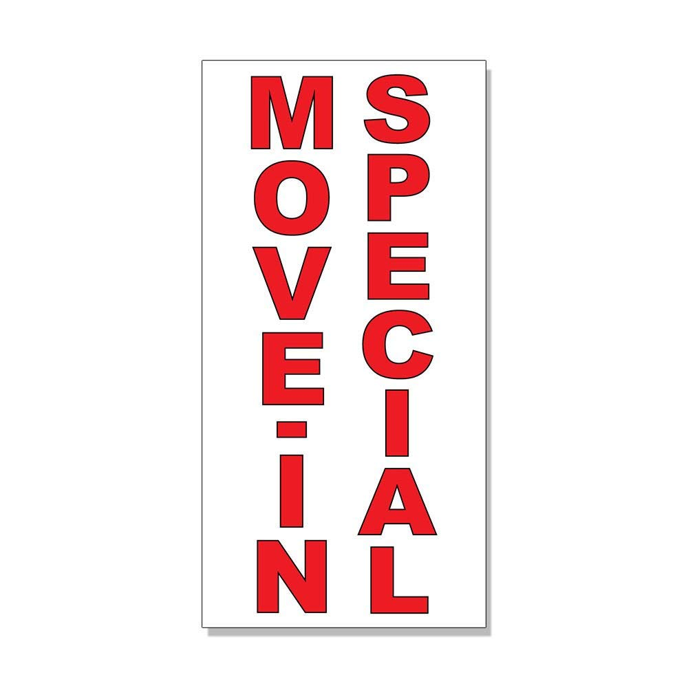 Move-In Special Red DECAL STICKER Retail Store Sign Sticks to Any Surface