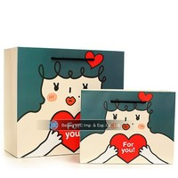new product decoration handmade die cut paper bag custom printed paper