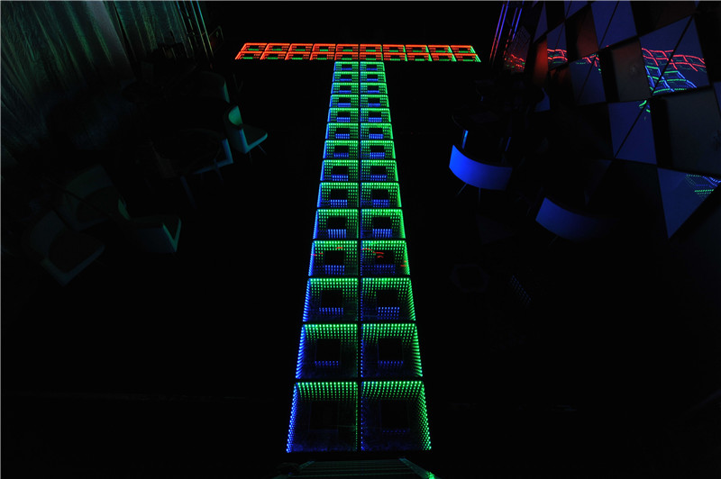 Video LED 3D RGB mirror infinite Dance floor wedding dj dance floor