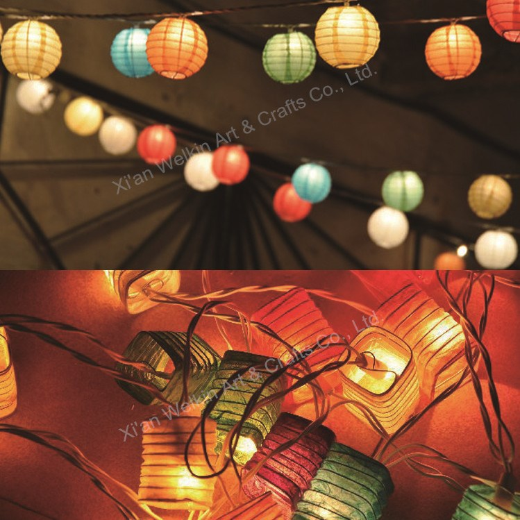 Mini paper lantern string light