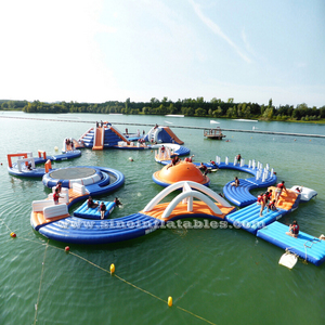 Outdoor commercial use kids N adults giant inflatable water floating playground for sale from Sino Inflatables