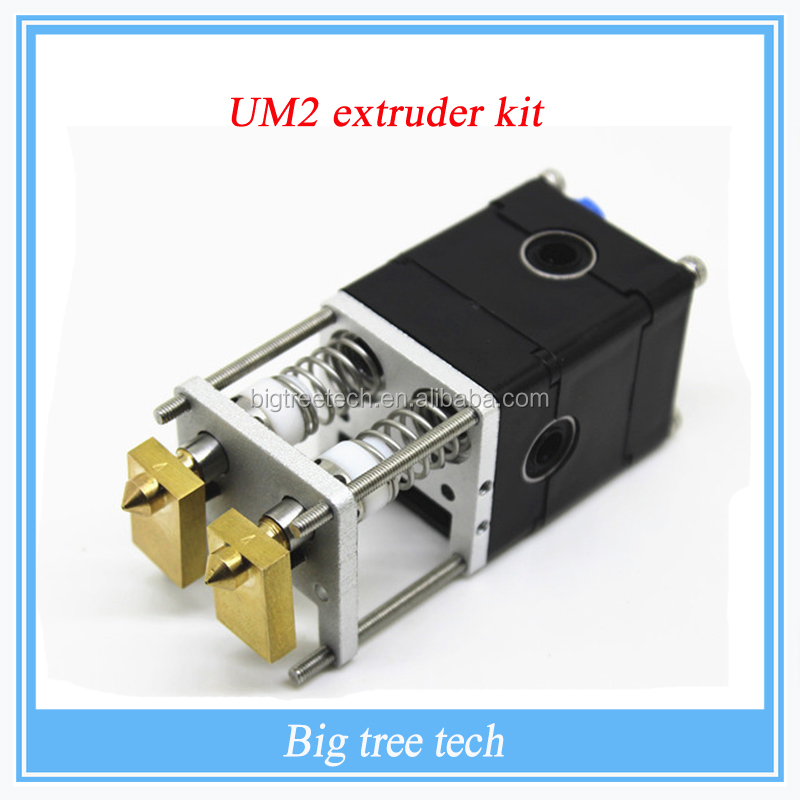 3D Printer Ultimaker 2 Dual Printer Head 2 Nozzles Hot End UM2 Double Heads Extruder for 1.75mm Filament