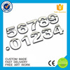 Manufacture number design plastic auto badge ABS chromed car emblems