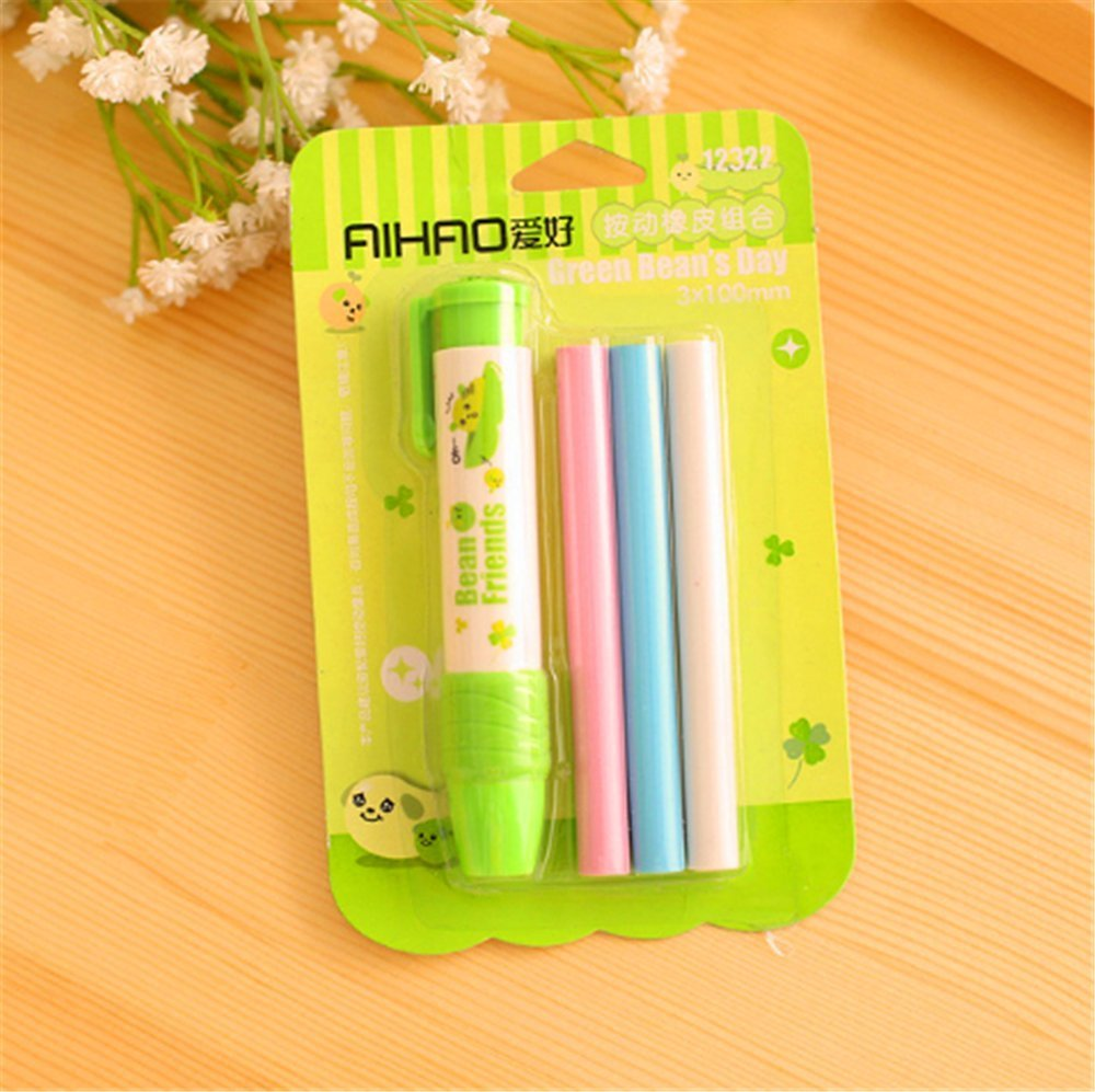 WishgiftCC Extension Type Cute Design Plastic Eraser 1pcs, cute creative Stationery and office supplies