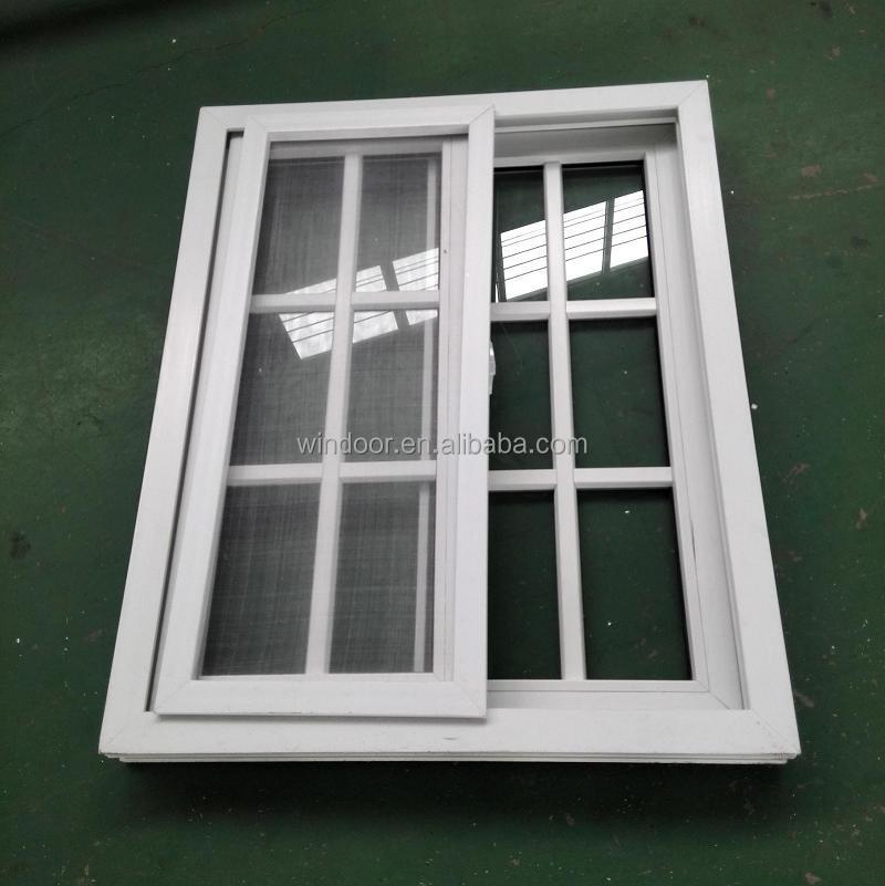 Due ante scorrevoli finestre in pvc con zanzariera plastica upvc alla griglia finestre - Griglia regolabile protezione finestre ...