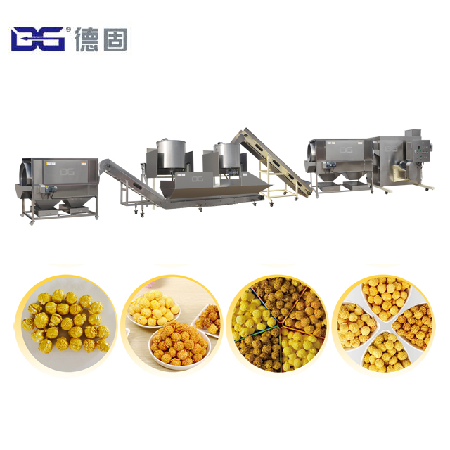 2018 China Candy Flavored Crunch Sugar Popcorn machine equipment for sale pop corn making machine low price