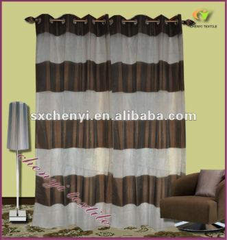 Curtains Ideas brown white striped curtains : Polyester Brown And White Stripe Organza Curtain,Sheer Curtain ...