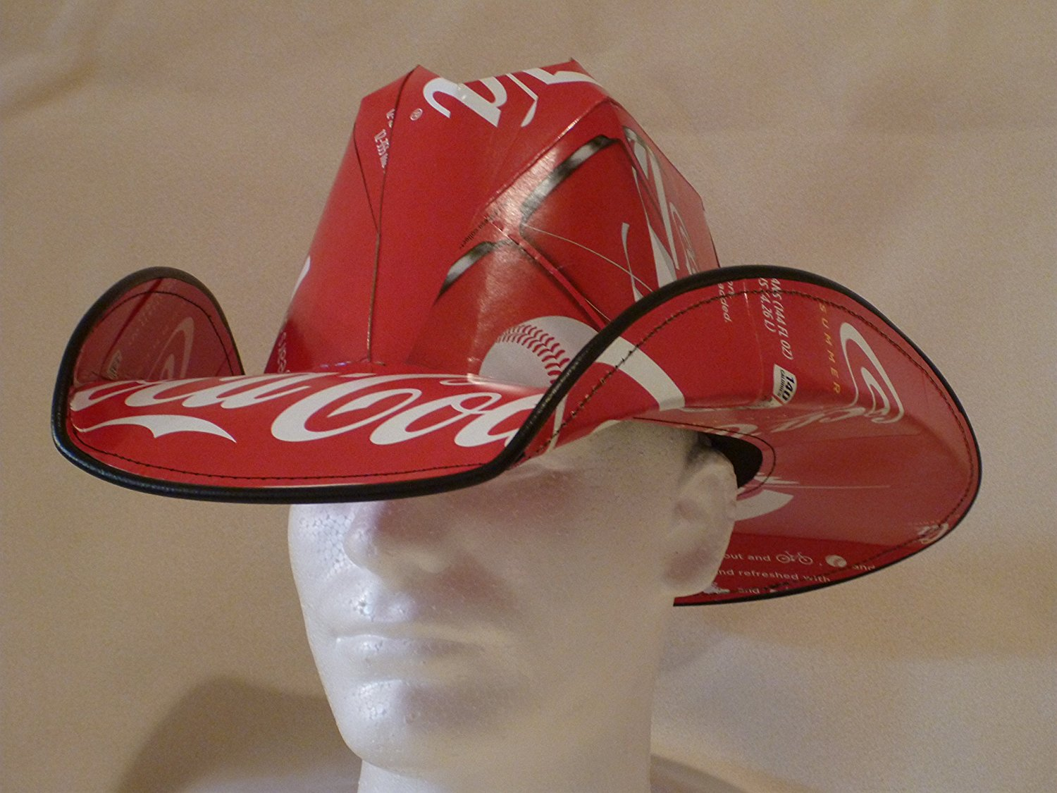 0faa6f924f1 Buy Soda Box Cowboy Hat Made from recycled Coke Coca Cola soda boxes ...