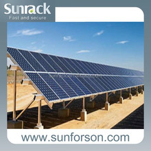 1MW flat roof &ground solar mounting system,concrete foundation solar mounting panel bracket,solar pv fixing system