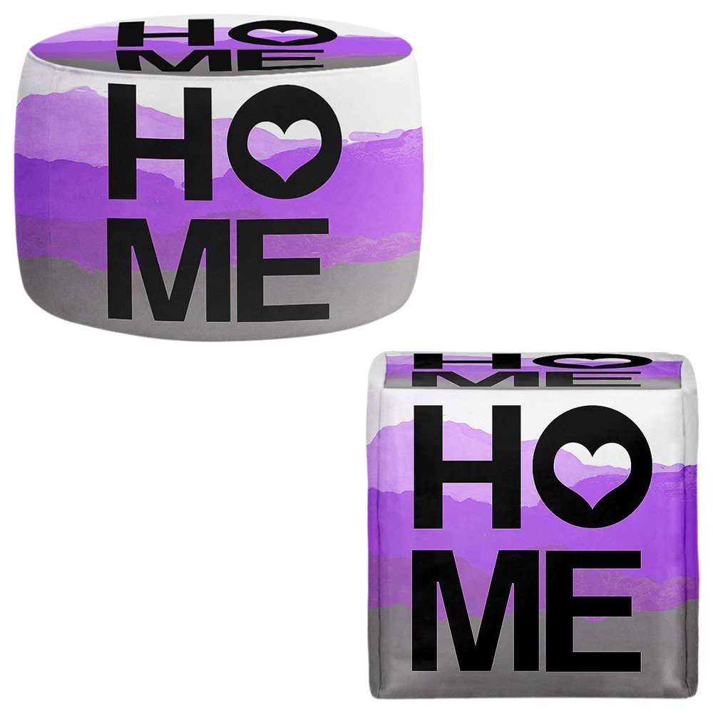 Foot Stools Poufs Chairs Round or Square from DiaNoche Designs by Jackie Phillips - Home Heart Orchid