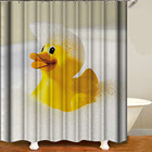 "Ready to ship 100% polyester shower curtains in stock,duck shower curtains 71""*71""/180*180cm"