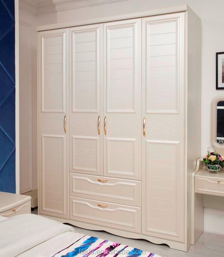 مصنع الجملة خزائن غرف النوم غشاء المغلفة البلاستيكية البيضاء