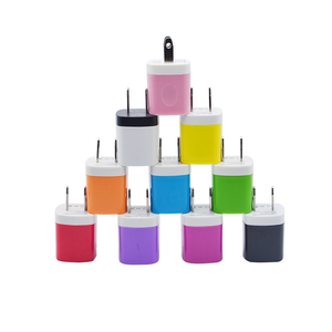 5V/1A Stylish Colors Universal USB Phone Charger Plug with Easy Grip for Home, Office, Travel