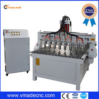 China high efficiency multi heads wood CNC router 1325 cnc marble engraving machine