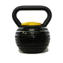 Black Adjustable Kettlebell 10 - 40 Pounds Made For Diverse Workouts and Home Use