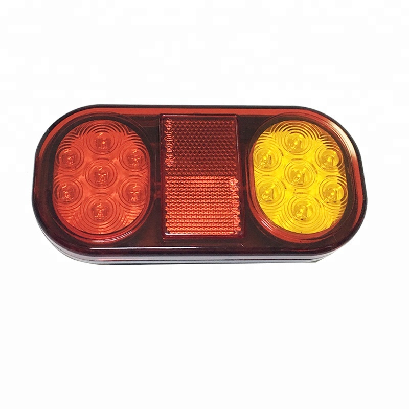 12V 21LEDs E-MARK Led Trailer Light IP67 truck tail lamp, waterproof rear combination tail lamp for truck and trailer