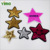 Custom high quality pearl beaded patches and beaded applique embroidery star