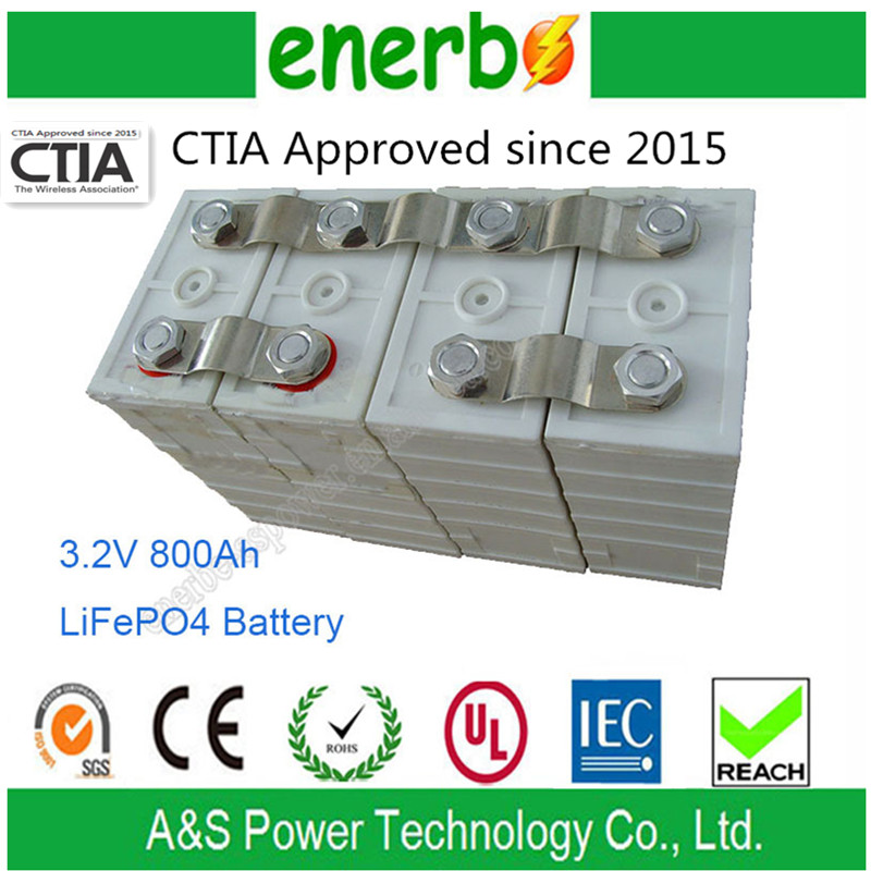 Rechargeable 800Ah 3.2V LiFePO4 Battery Pack Used in Car, Boat, Solar Energy Storage Battery made in China