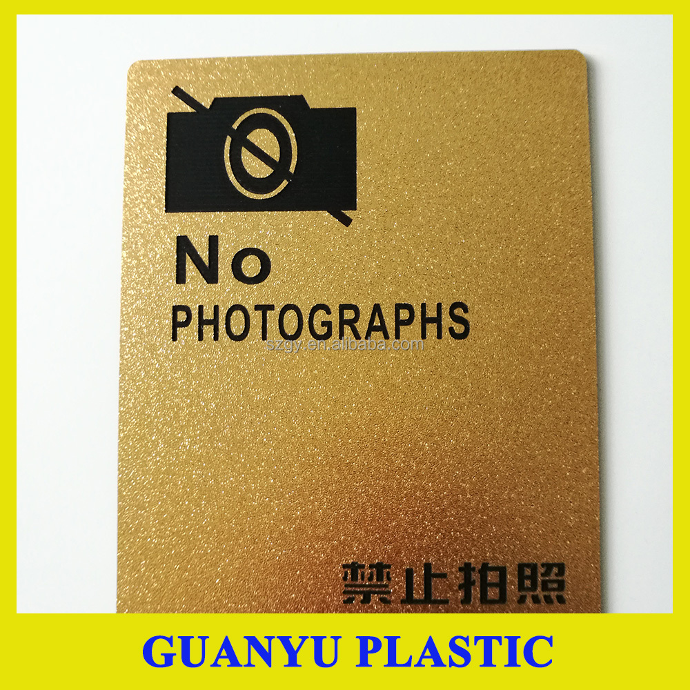 Satin Golden ABS Double Color Plastic Sheet for Laser Engraving