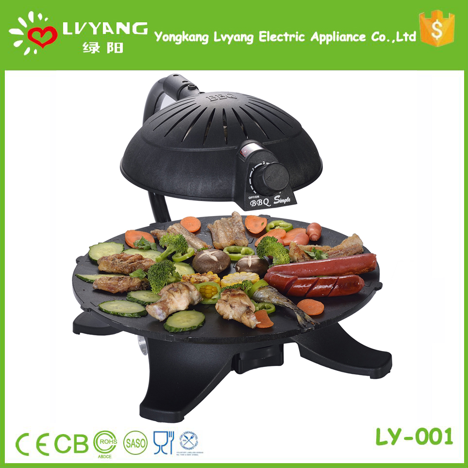 Smokeless infrared korean portable butane bbq grill table