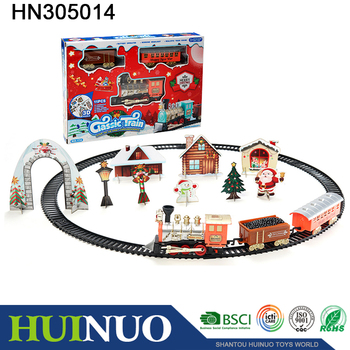 Best gift plastic electric christmas train set HN305014