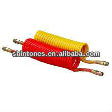 Air Brake Coils - Red and Yellow Air Suzie Hose - Spring Protect 22 Turns