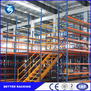 Hot sale customized heavy duty steel mezzanine floor shelving system