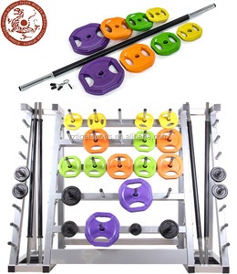 Body pump barbell set with rack
