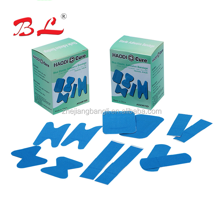 Detectable X-Ray Detectable Blue Plaster Assorted Sizes Wound Dressing Plaster First Aid Bandages