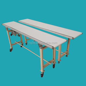 Flat movable belt conveyor