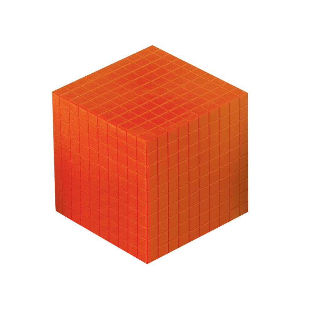 ETA hand2mind Base Ten Cube, Orange Plastic