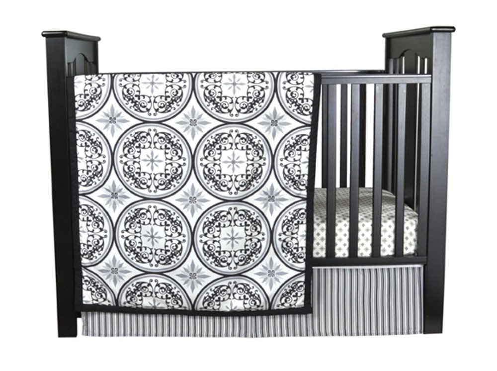 Trend Lab Medallions 3 Piece Home Indoor Nursery Kids Baby Pretty Crib Bedding Set Toys Christmas Gift