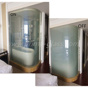 Prima Curved Smart Glass For Hotel Bathroom Doors Buy Curved Smart