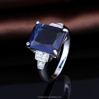 luxury costume sapphire jewelry accessories finger ring