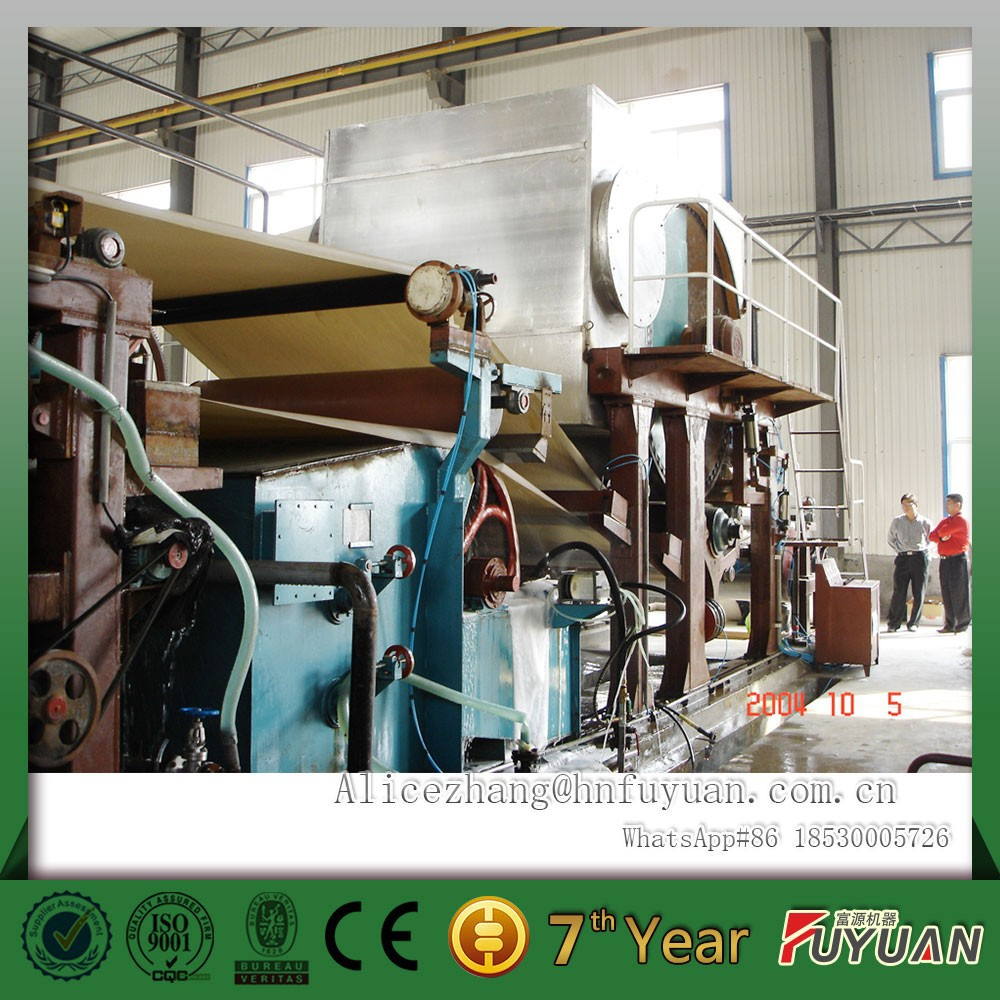 1092mm toilet paper roll making line, small paper making machine from waste paper, recovered fibers using