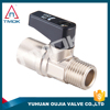 Factory Stock M*F Mini Brass Ball Valve With Nickel Plated Importer In Dehli For Oil Water And Gas CW617n Material