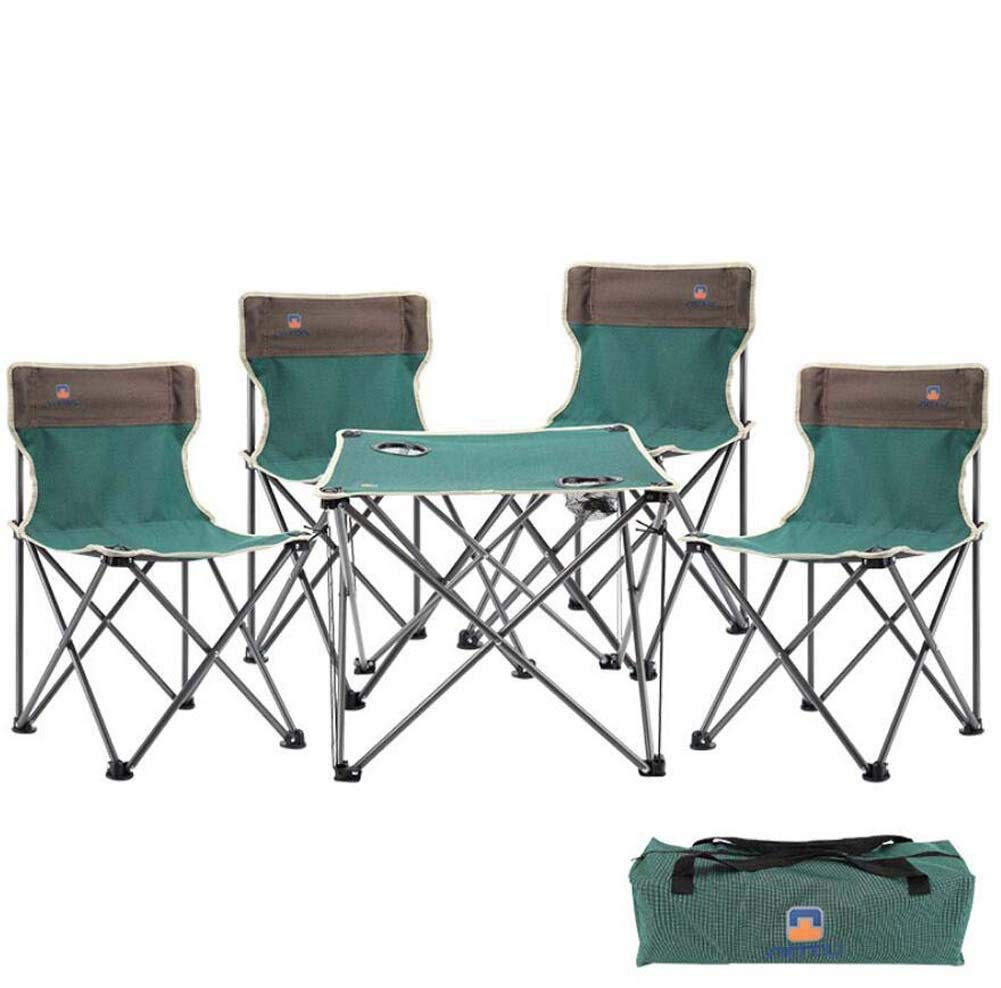 Get Quotations Portable Folding Chair Outdoor Table Set 5 Pcs Collapsible Chairs Leisure