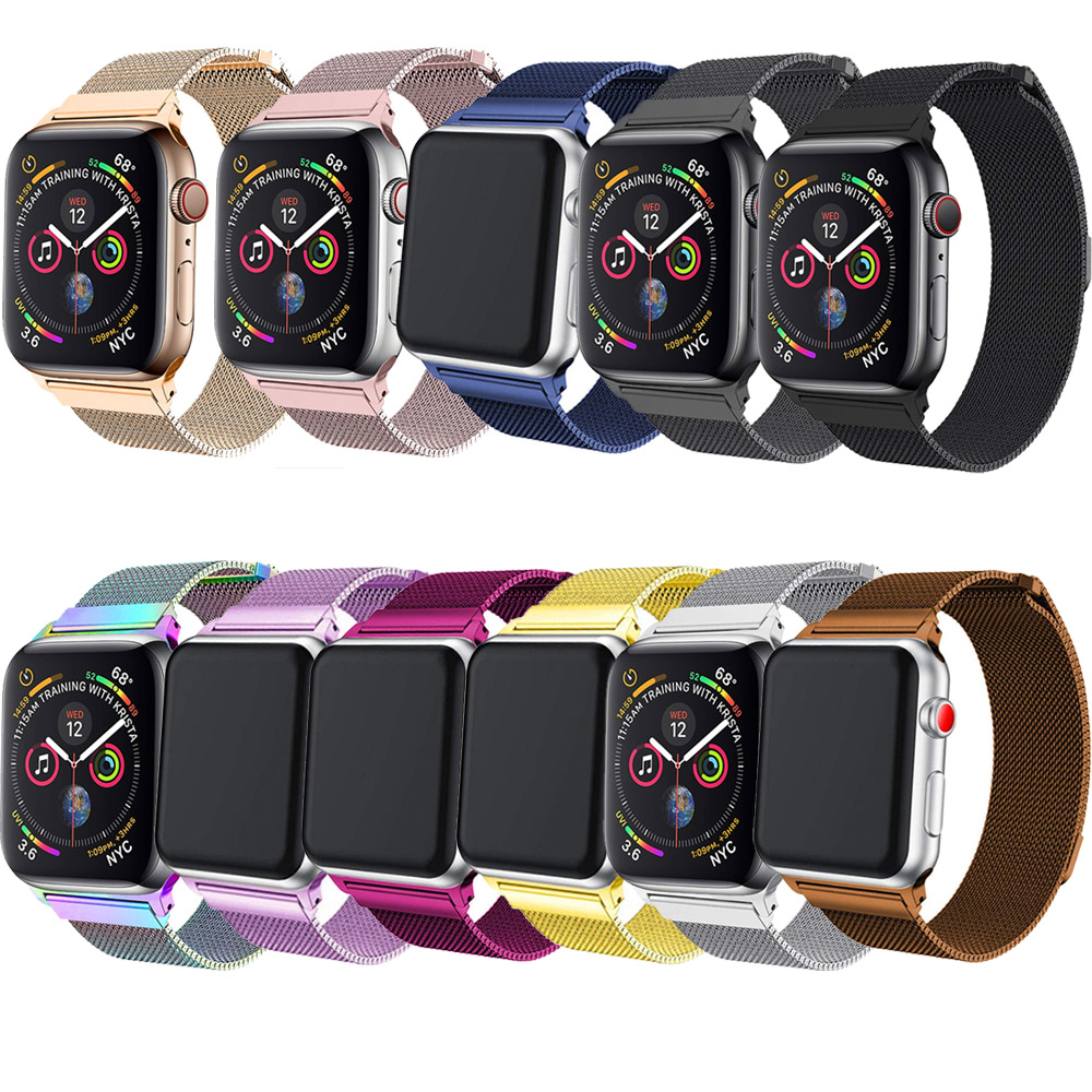 Tschick Per Apple Watch Band 42 millimetri 38 millimetri 44 millimetri 40 millimetri, cinturini Per orologi Milanese Loop per iWatch Serie 4 3 2 1
