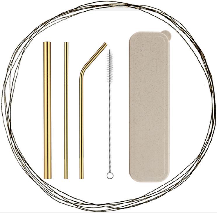 FDA goedgekeurd metalen stro herbruikbare rietjes rvs stro set