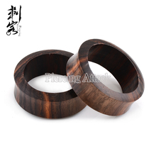 Black Sono Wood Ear Piercing Jewelry Wood Ear Tunnel Plug