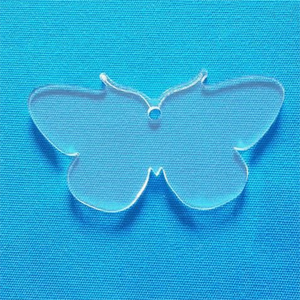 Custom Pretty Cabinet Butterfly Shaped Clear Acrylic Key Chain Blanks