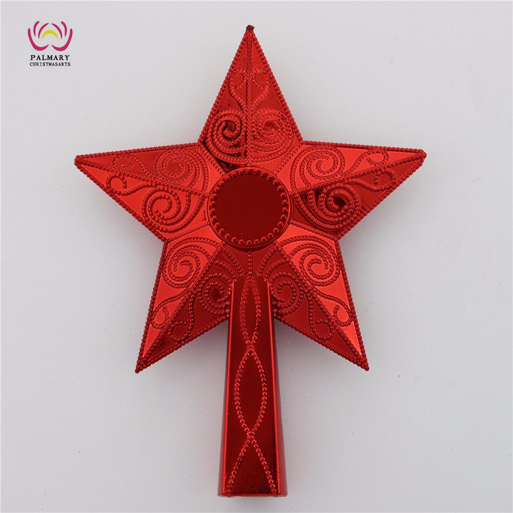 Factory Wholesale 22cm Plastic Personalized Star Christmas