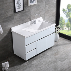 Bathroom Vanity Cabinet With White artificial stone vanity