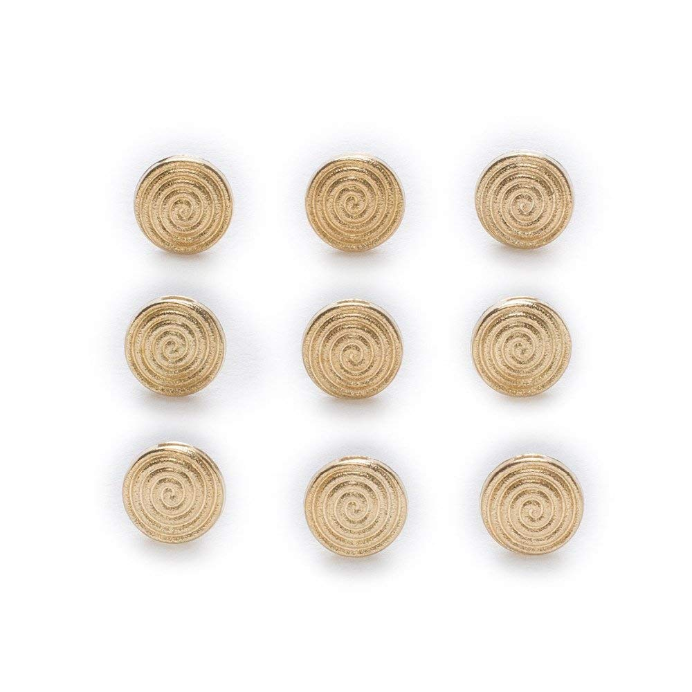 BarFeer 10Pcs Gold Metal Shank Buttons Shirt Clothing Sewing Decor Replace Sewing Garment Supplies Accessory 10Mm